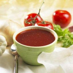 low carb HIGH PROTEIN TOMATO BOUILLON SOUP