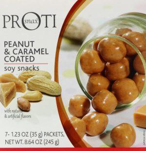 peanut and caramel proti snax puffs soy snacks