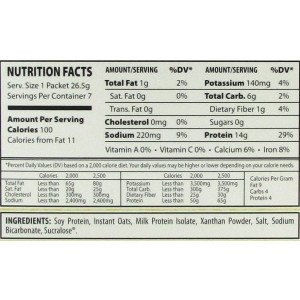 oatmeal low carb info