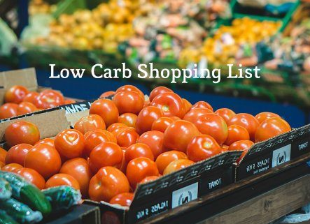 best low carb shopping list