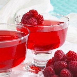 raspberry keto jello