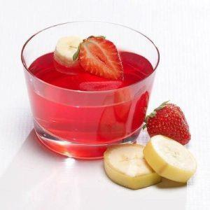 strawberry banana protein jello