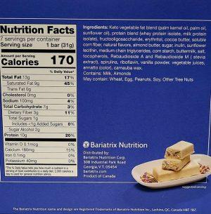 nutrition birthday cake protein bar