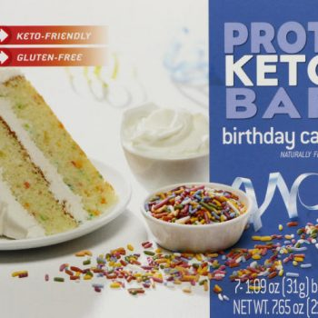 birthday cake protein bar