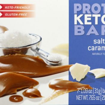 salted caramel protein bar